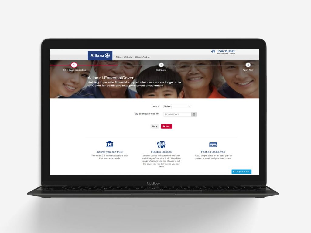 Allianz Online Insurance Website